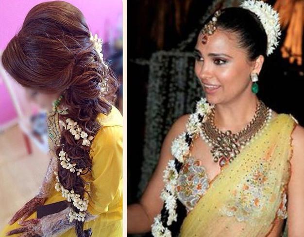 Bun Hairstyle Gajra