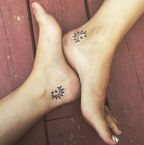 Foot sister tattoos