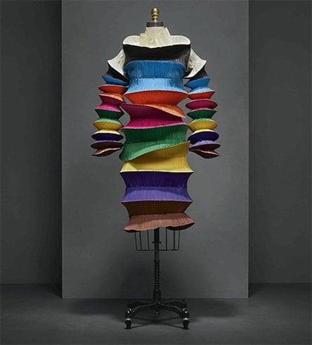 Issey Miyake 3D Print Dress