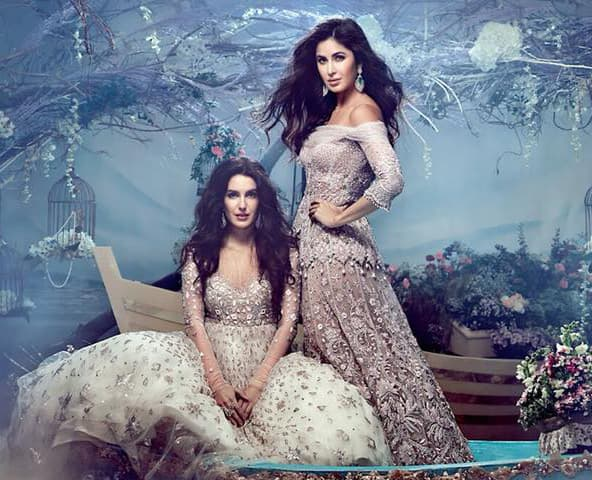 Katrina Kaif and Isabelle Kaif in Tarun Tahiliani gowns