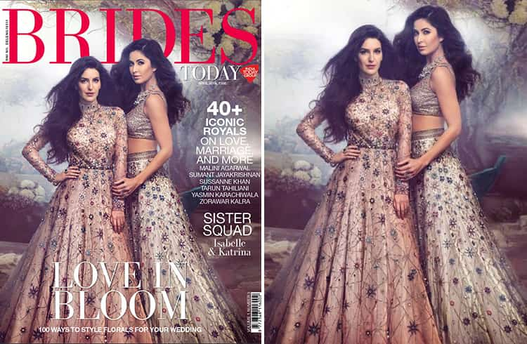 Katrina Kaif and Isabelle Kaif on Brides Today India