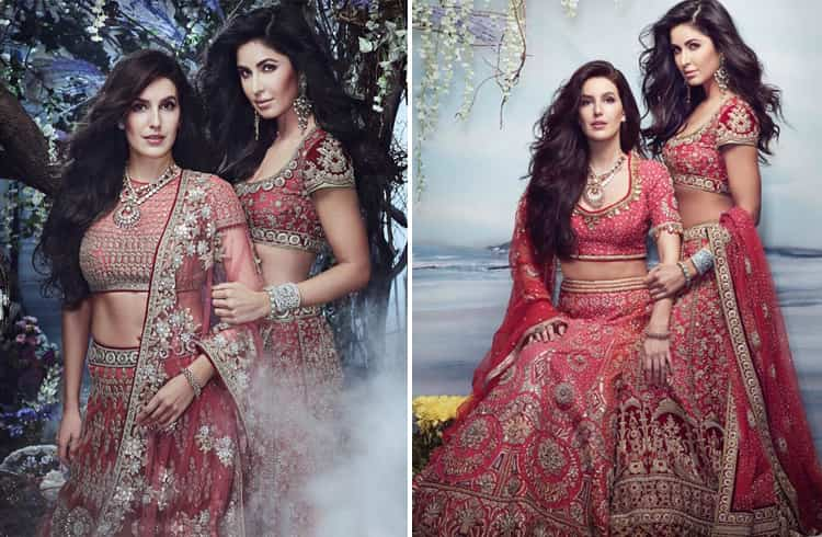 Isabelle Kaif and Katrina Kaif on Brides Today India