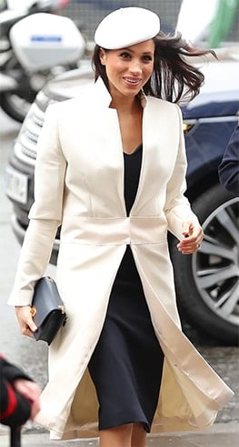 Meghan Markle in Amanda Wakeley Coat