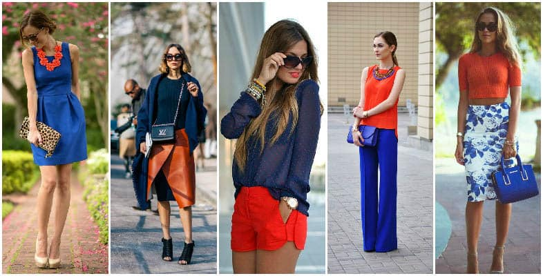 Orange and Blue olour Combinations