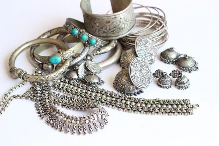Oxidized Silver Jewelry Items