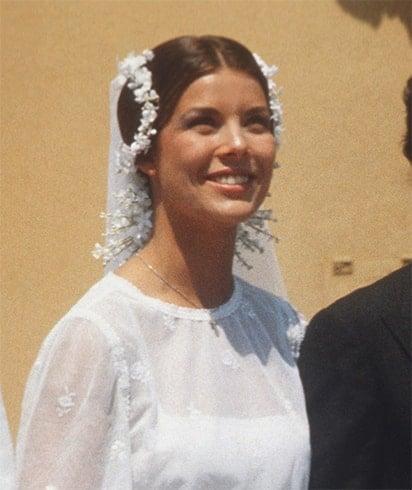 Princess Caroline Wedding Hairstyle