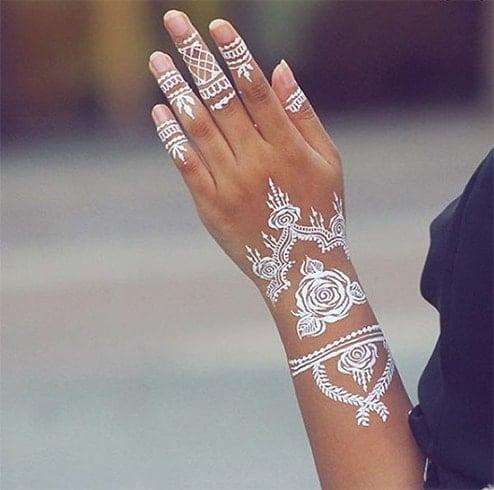 Rose White Henna