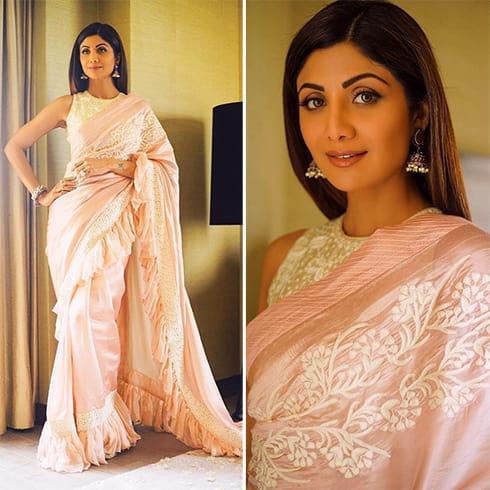 Shilpa Shetty in Jayanthi Reddy sari