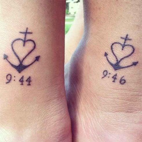 Sister Symbol Tattoos
