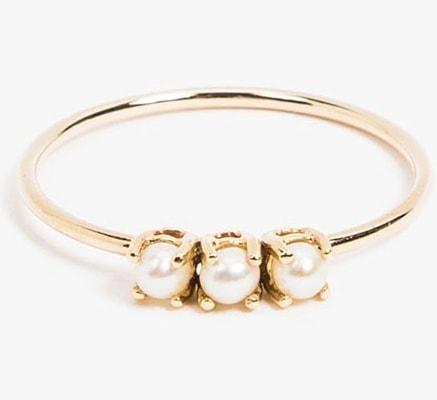 Tri Pearl Ring