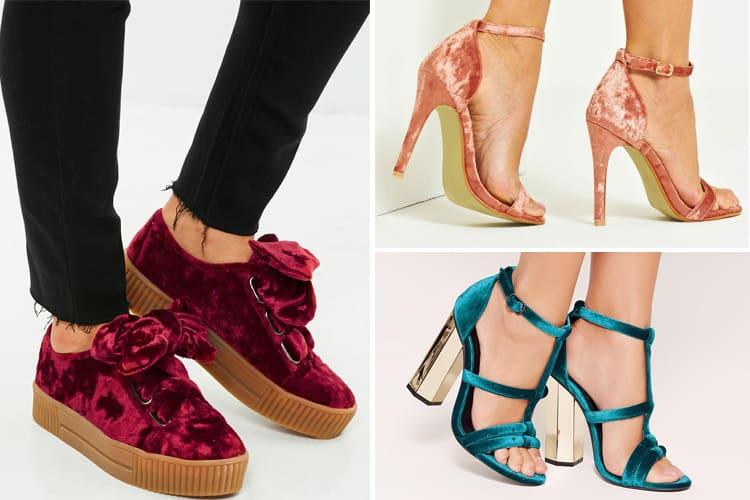 Velvet footwear