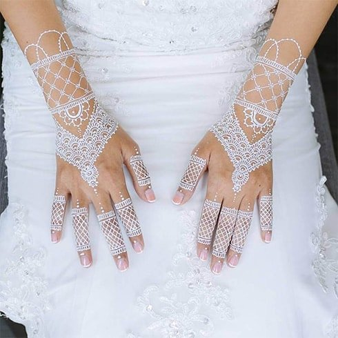 White Henna For Bride