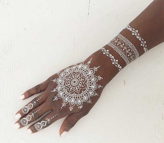 White Henna Pakistani Design