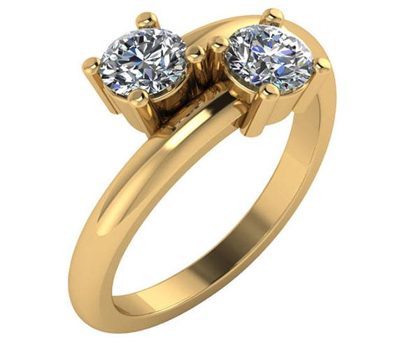 2 Stone Engagement Rings Designs