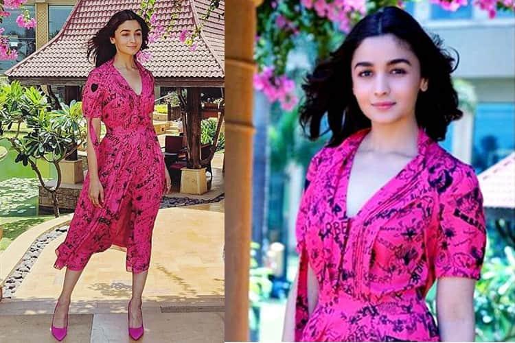 Alia Bhatt in In Burberry Designer dress