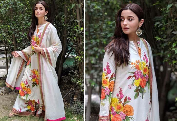 Alia Bhatt in Sabyasachi Designer Dress