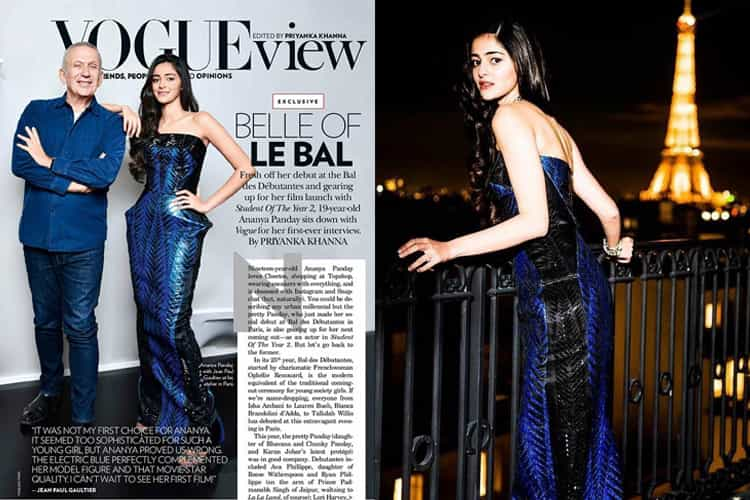 Ananya Pandey in Jean Paul Gaultier dress