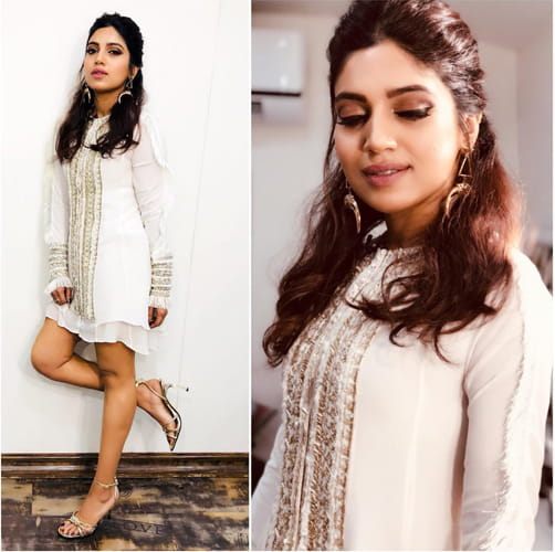 Bhumi Pednekar in White Fashion