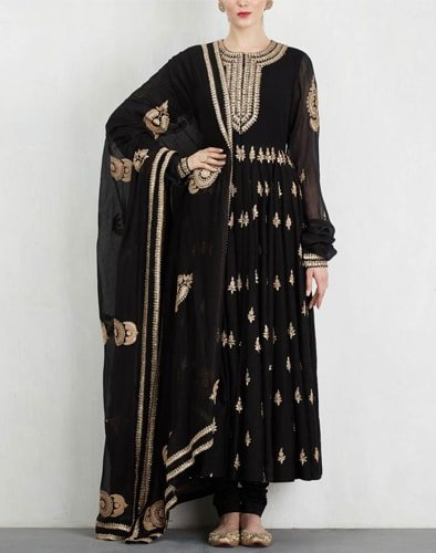 Black Salwar With Dori Work