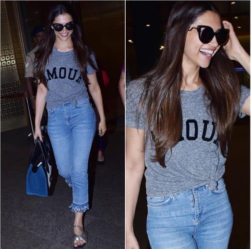 Deepika Padukone Airport Fashion