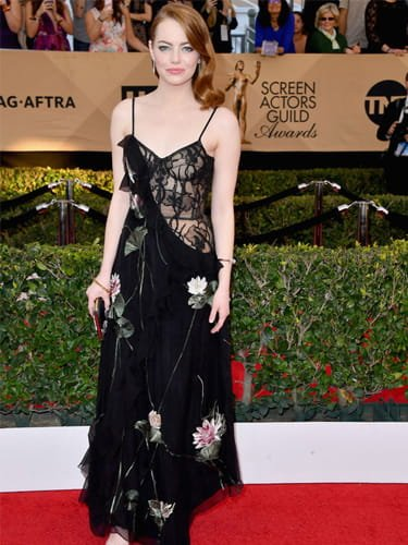 Emma Stone half and half dress