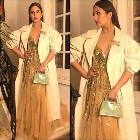 Huma Qureshi in Manish Malhotra