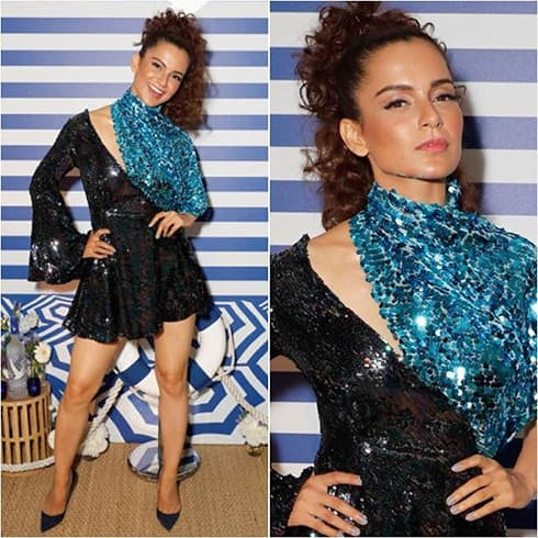 Kangana Ranaut in Halpern mini dress
