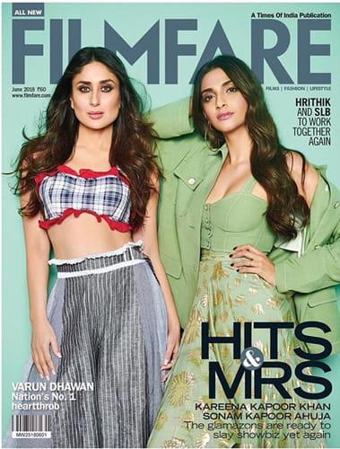 Kareena Kapoor And Sonam Kapoor On Filmfare Cover