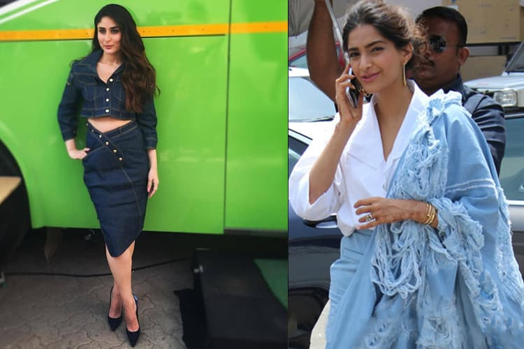 Kareena Kapoor And Sonam Kapoor in Denim Fashion