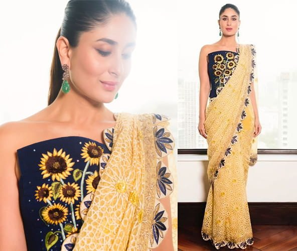 Kareena Kapoor in Rahul Mishra printed saree