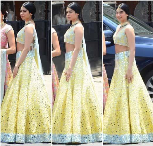 Khushi Kapoor Fashion at Sonam Kapoor wedding