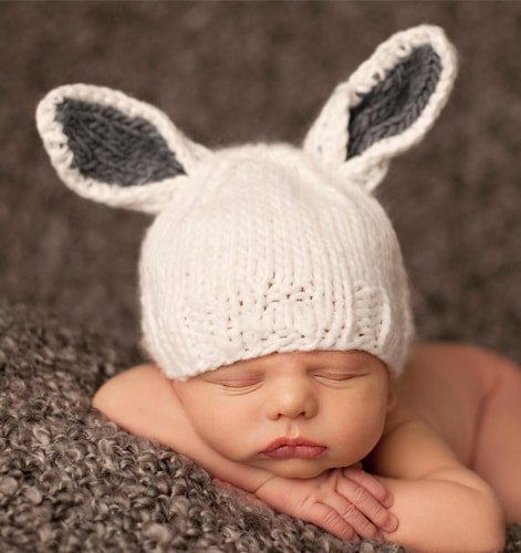 Knit Bunny Hat For Baby