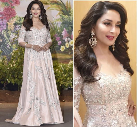 Madhuri Dixit at Sonam Kapoor Wedding Reception