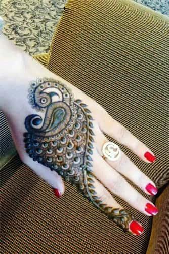 Peacock Round Tikki Mehndi Designs