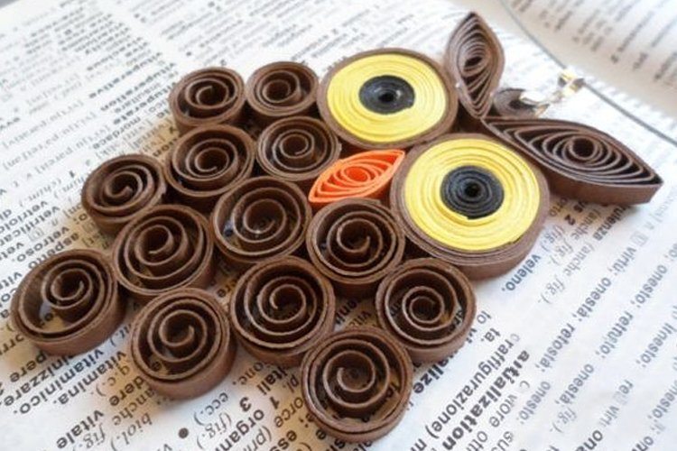 Quilled Owl Pendants