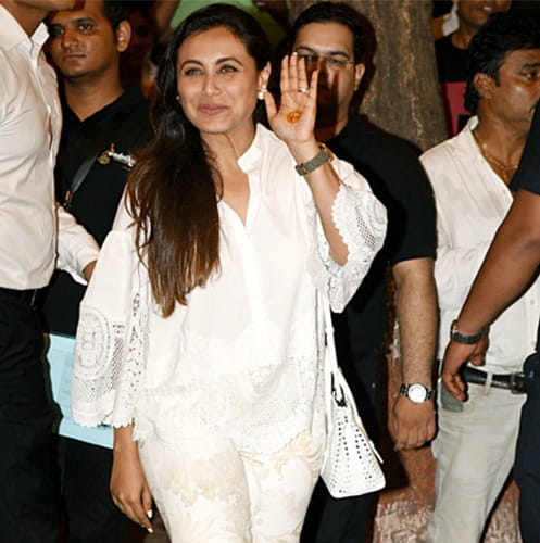 Rani Mukerji in Sonam's Mehendi Celebrations