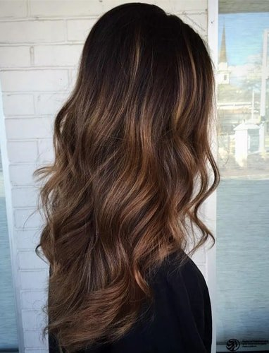 Rich Chocolate Brown Balayage