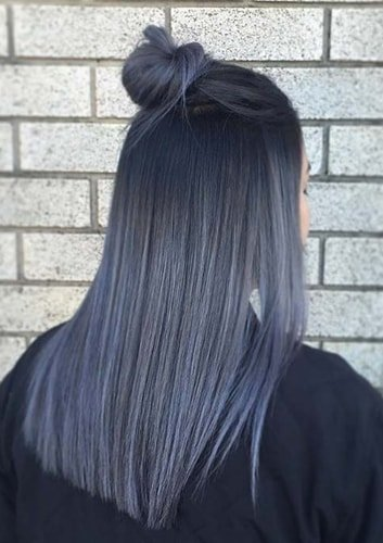 Smoky Blue Balayage
