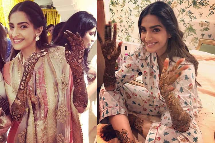 Sonam Kapoor in Mehendi Celebrations