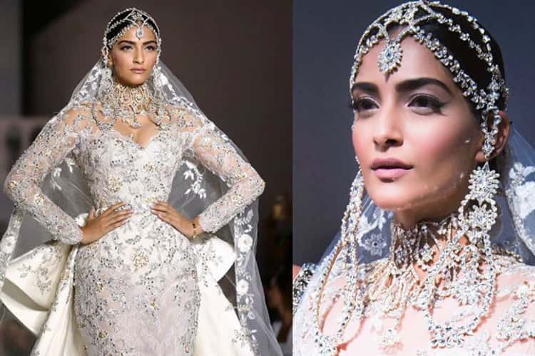 Sonam's bridal fashion with jewelry