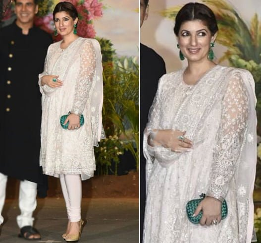 Twinkle Khanna at Sonam Wedding Reception