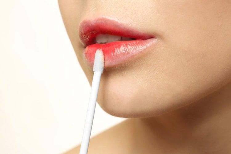 Wet lips for beauty