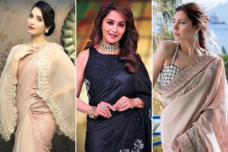 Celebrities Latest Sari Styles