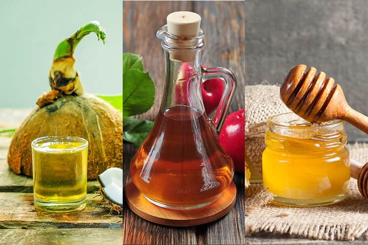 Honey Coconut Oil And Vinegar