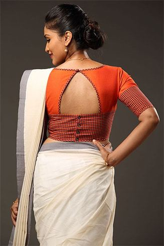 Top Blouse Designs For Cotton Sarees To Look Hot This Summer