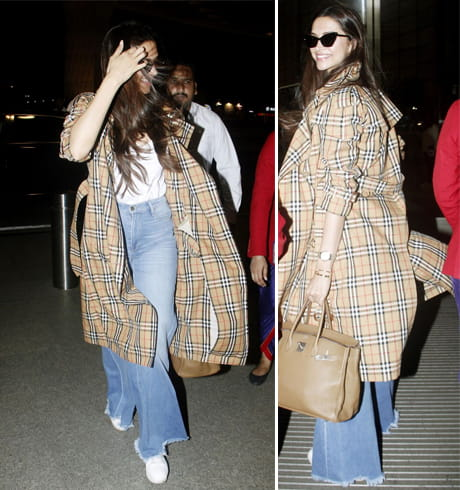 Deepika Padukone in Burberry Trench Coat