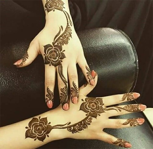 Dubai Rose Mehndi Designs