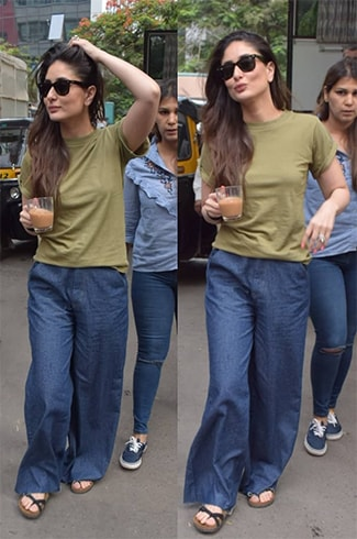 Kareena Kapoor in Pyjama Fit Denims
