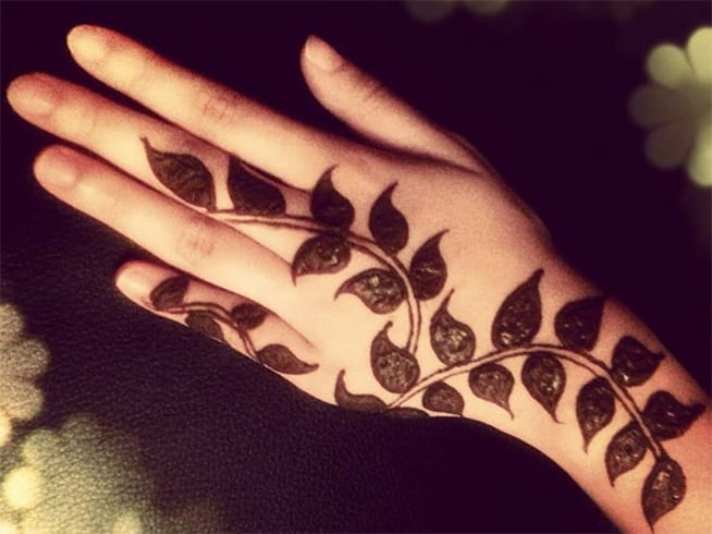 Leaf Mehndi Designs