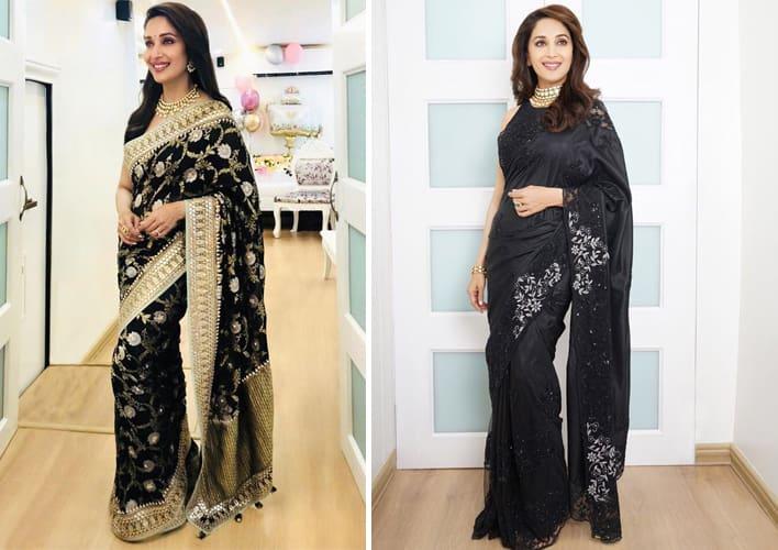 Madhuri Dixit Sari styles